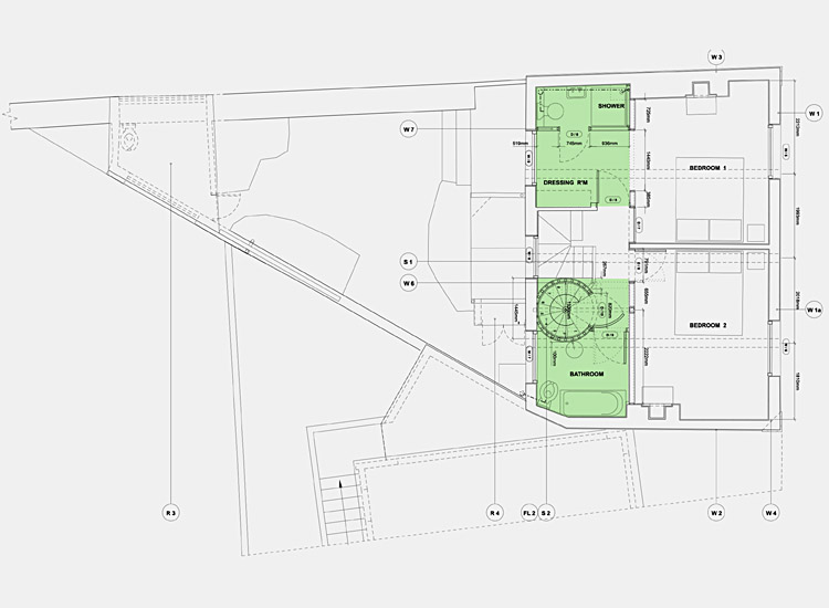 Town house plans first floor