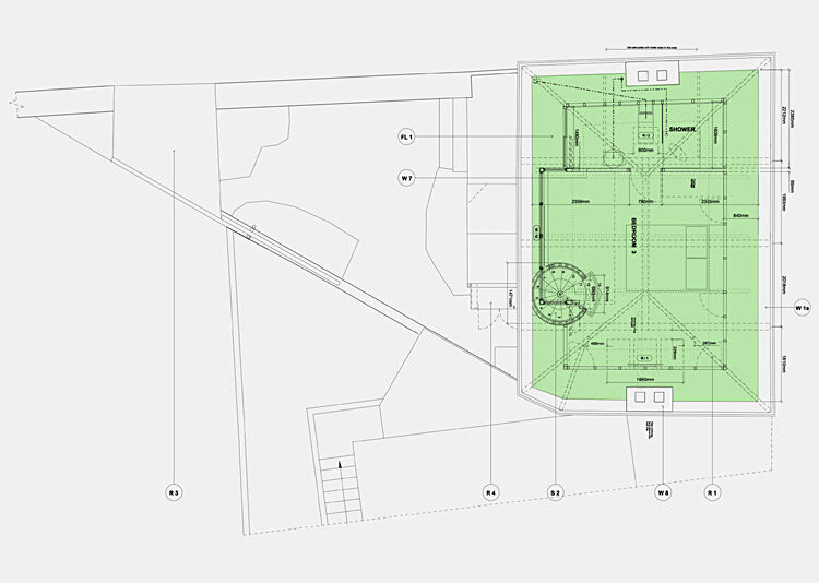 Town house plans second floor