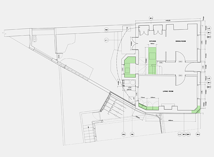Town house plans ground