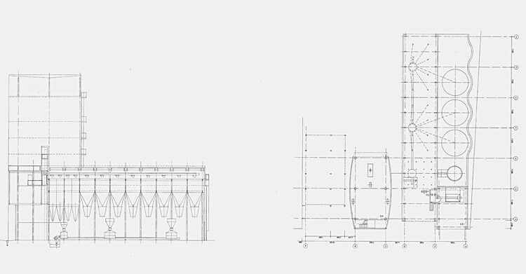 Animal feed mill sections