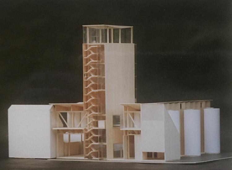 Animal feed mill, model