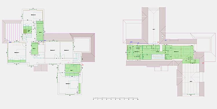 Family dwelling refurbishment upper floors