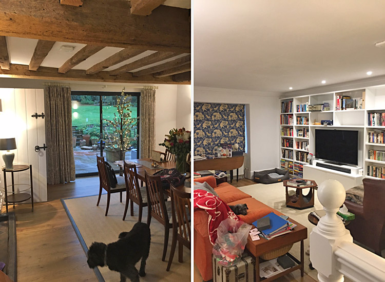 Family home refurbishment - living rooms