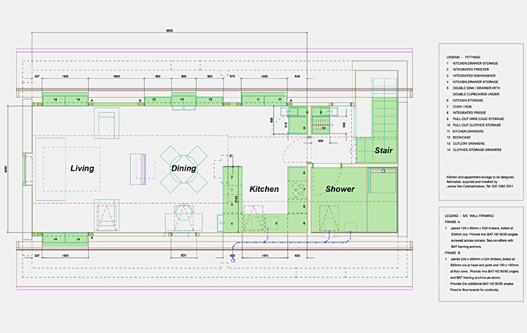 Refurbishment outbuildings first floor plan