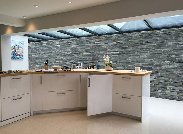 Kitchen for slate wall extension